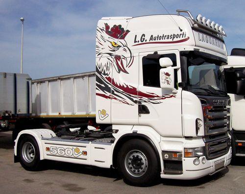 Personalizzazione automezzi pesanti con adesivo stampato o - Foto di grandi camion ...